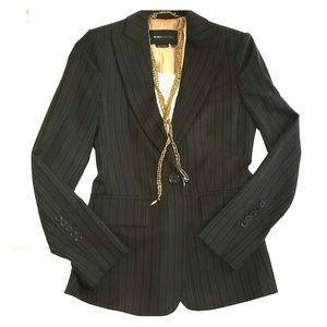 BCBG 💓 Gangster Striped Blazer Polished Jacket